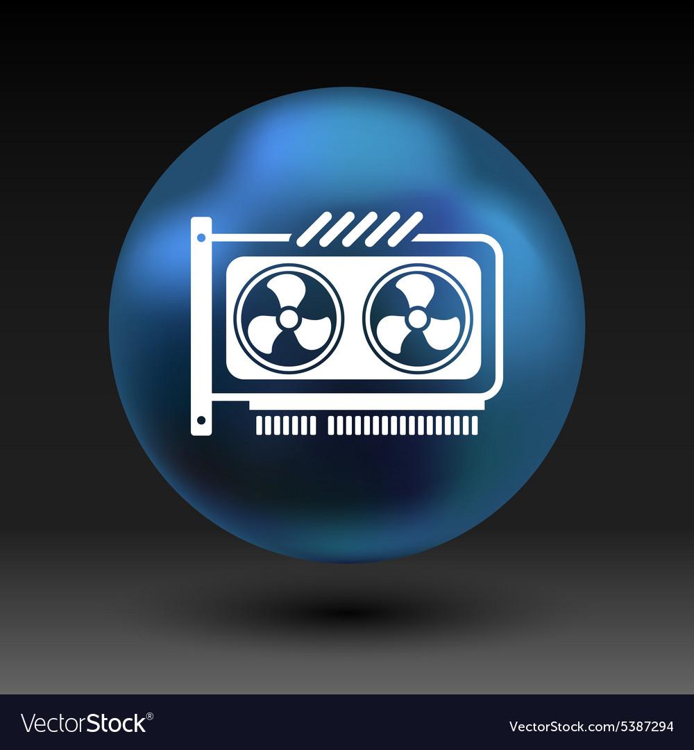 GPU or Computer graphic card icon component