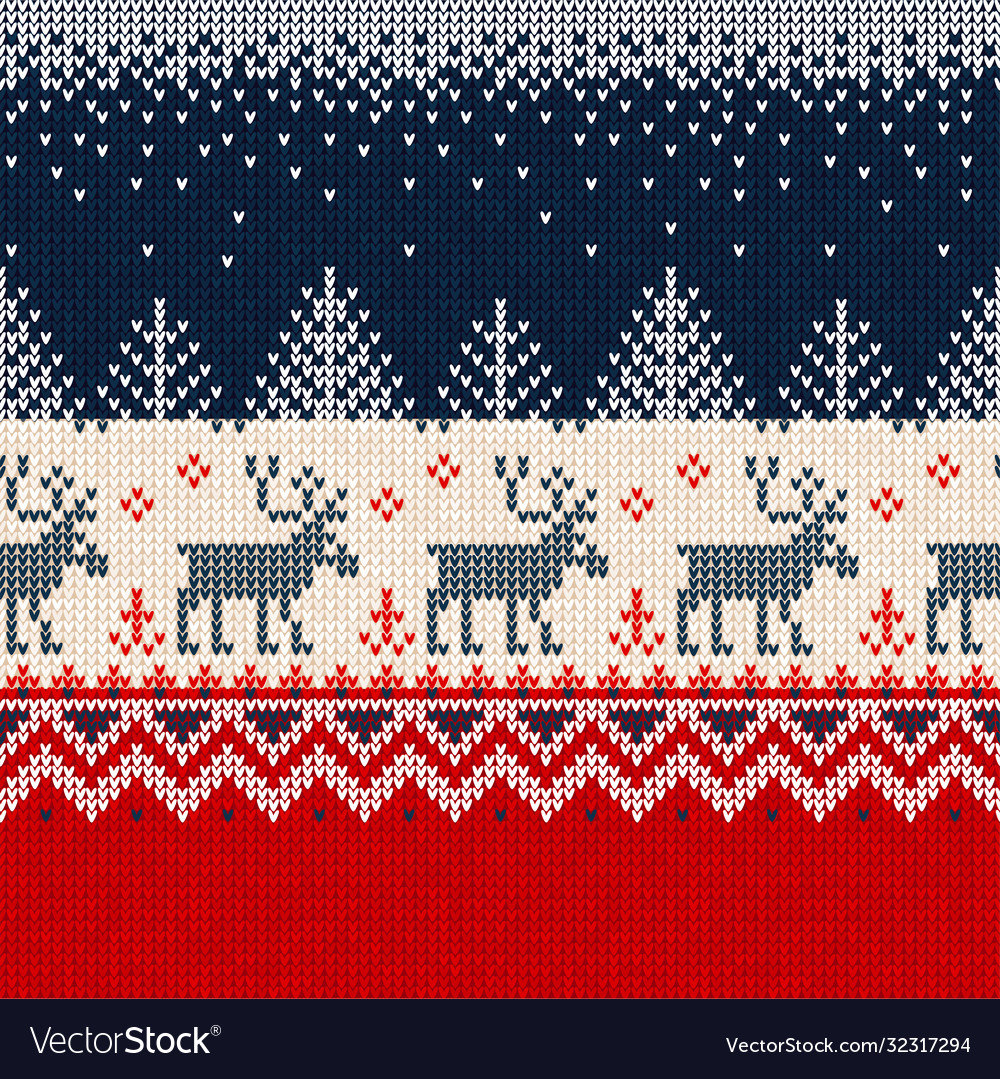 Merry year seamless pattern border