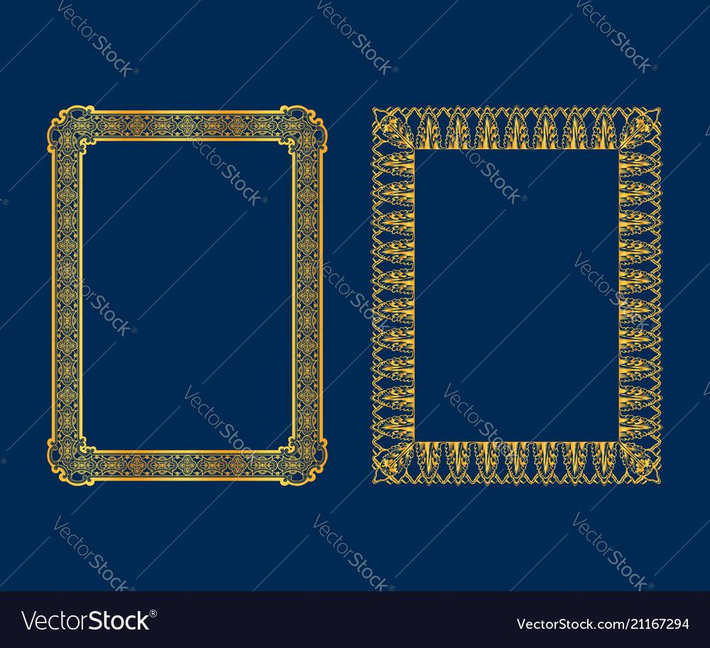 Set luxury decorative vintage frames and