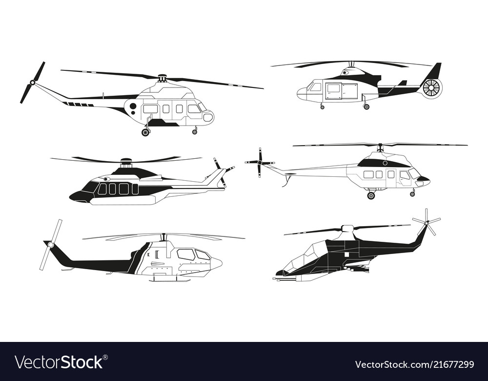 Black helicopters silhouettes pictures of