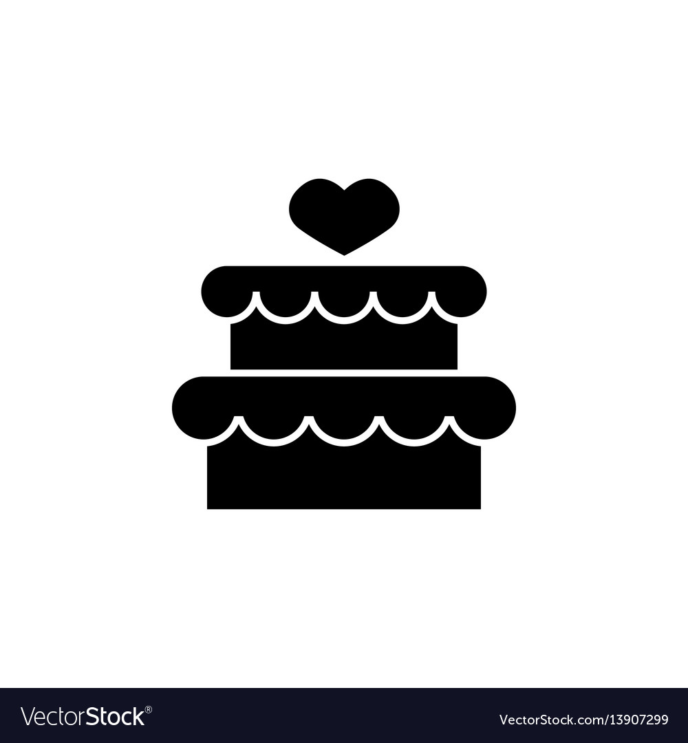Cake with hearth icon