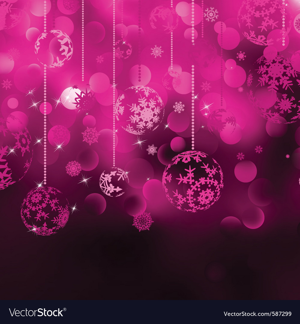 Christmas baubles background vector image