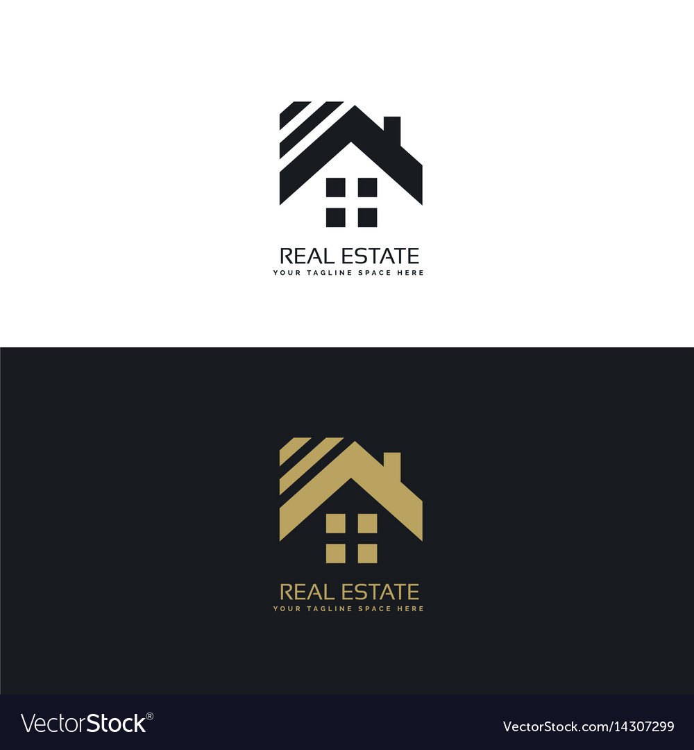 Elegant logo for real estate industry vector image