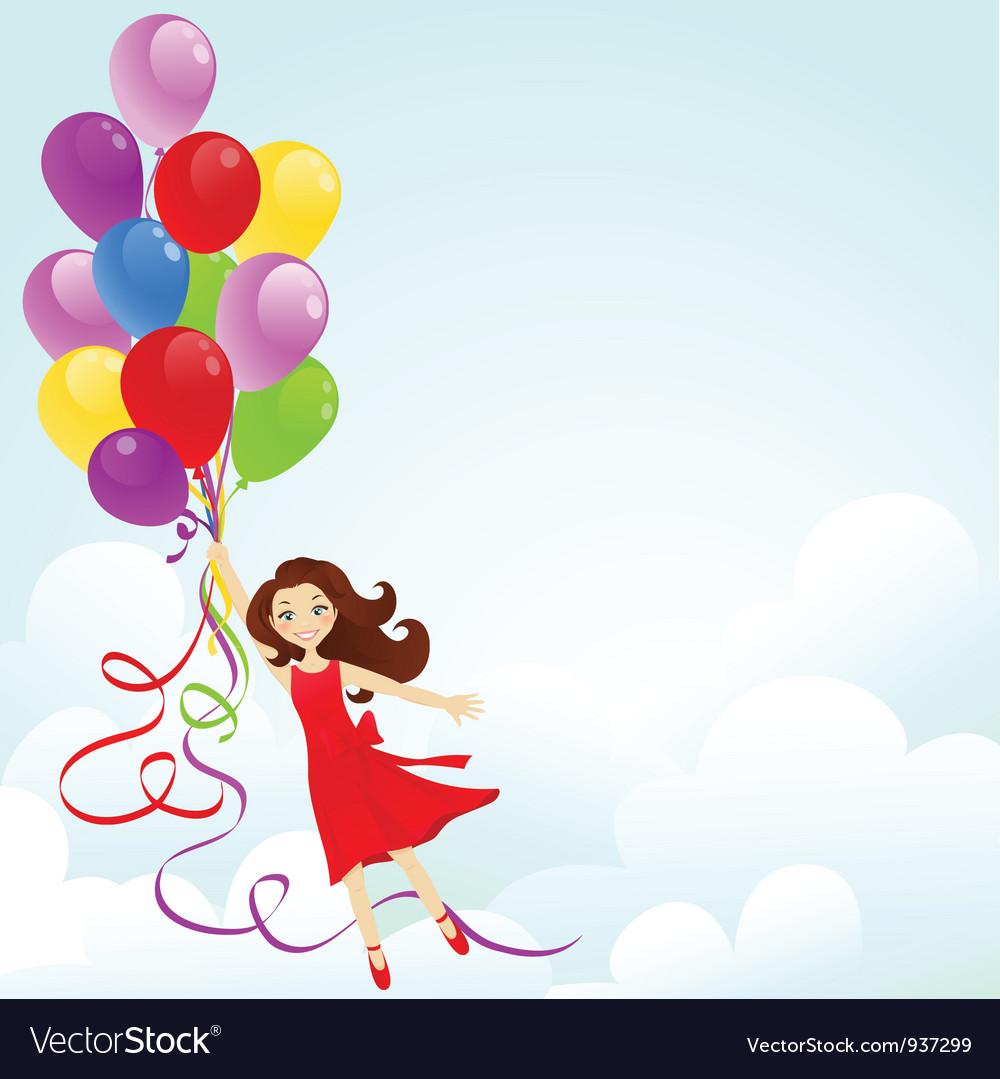 happy birthday for girl Happy birthday girl Royalty Free Vector Image   VectorStock happy birthday for girl