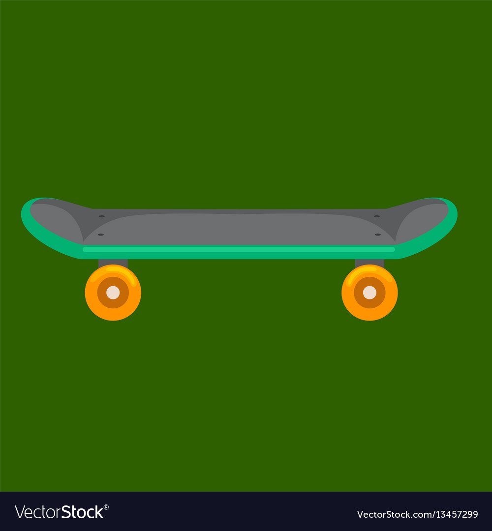Isolated skateboard with wheel for active
