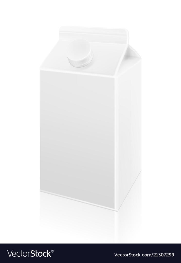 Milk blank carton box template