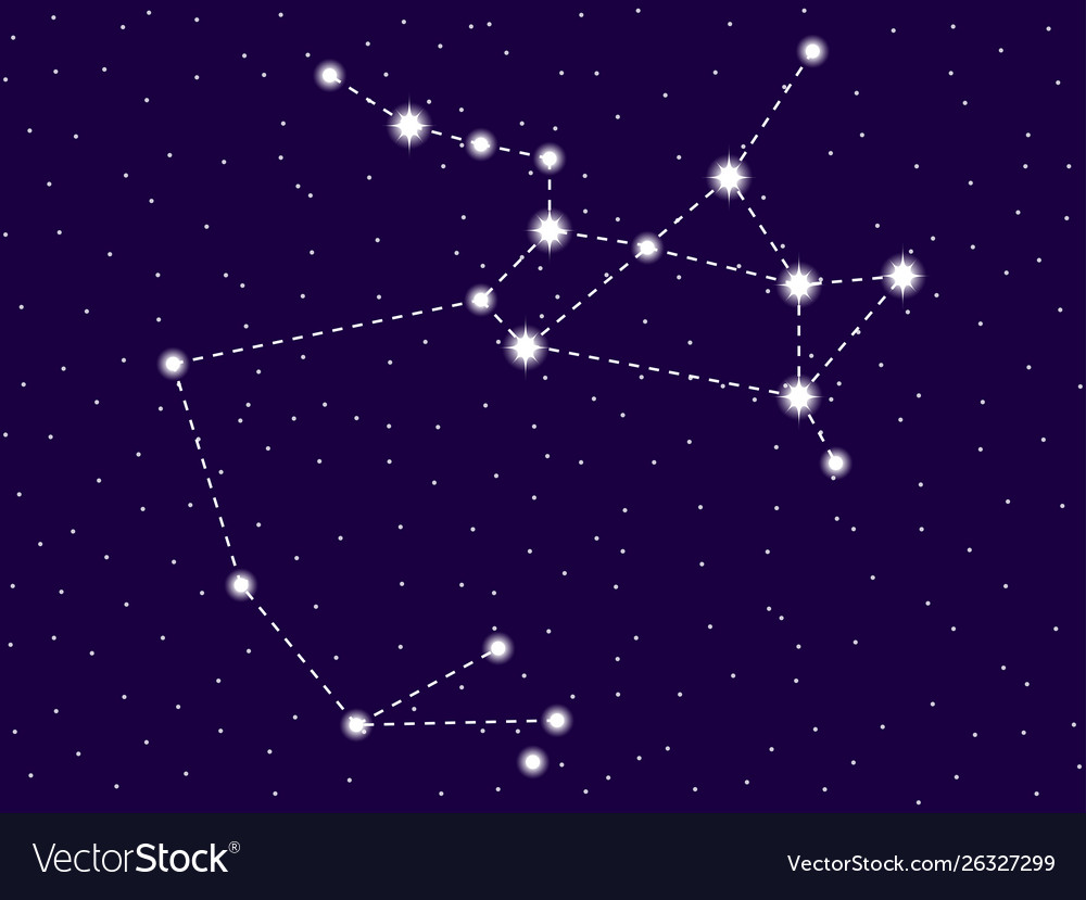 Sagittarius constellation starry night sky zodiac