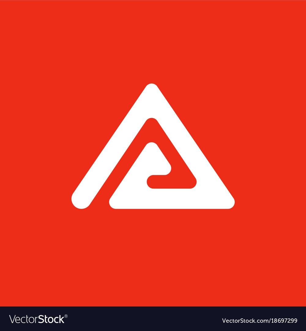 Triangle creative logo abstract logo a vector image