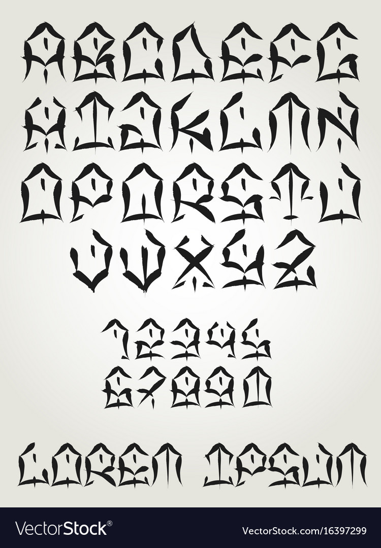 West coast graffiti font - hand written tattoo