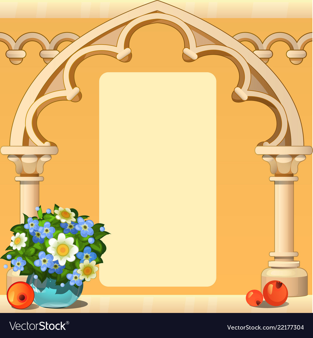 Beautiful cute greeting card with frame and space