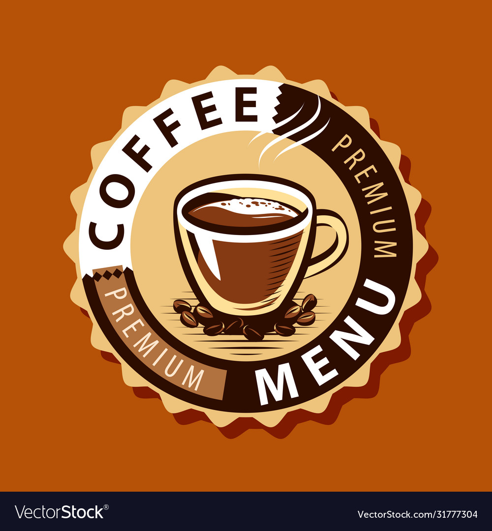 Coffee logo or label menu design for cafe and