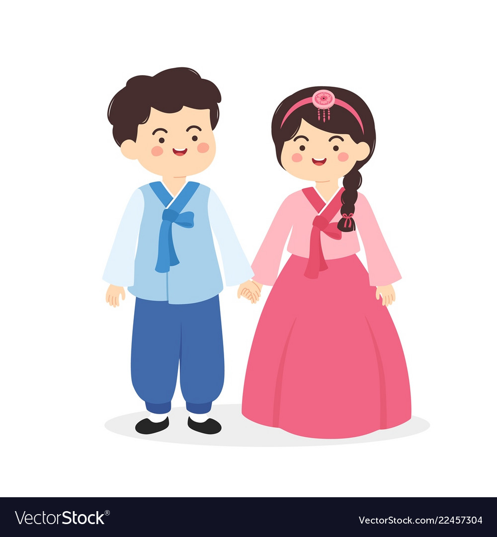 Lady In Hanbok Cartoon Character - Download Free Vector ...