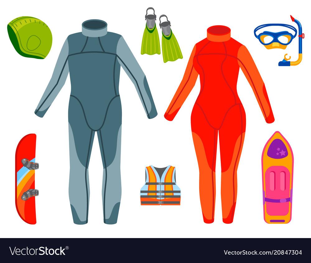 Fun water extreme sport kiteboarding surfer