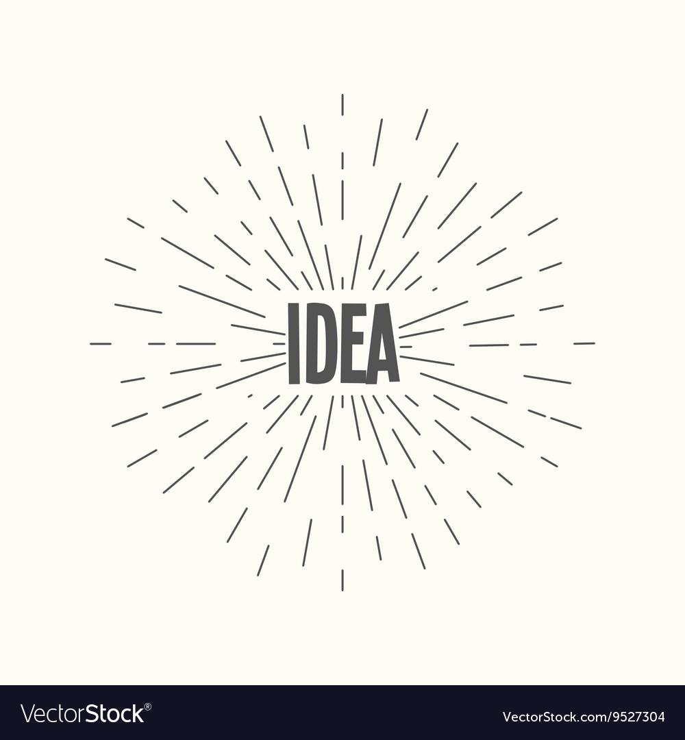 Hand drawn sunburst - idea