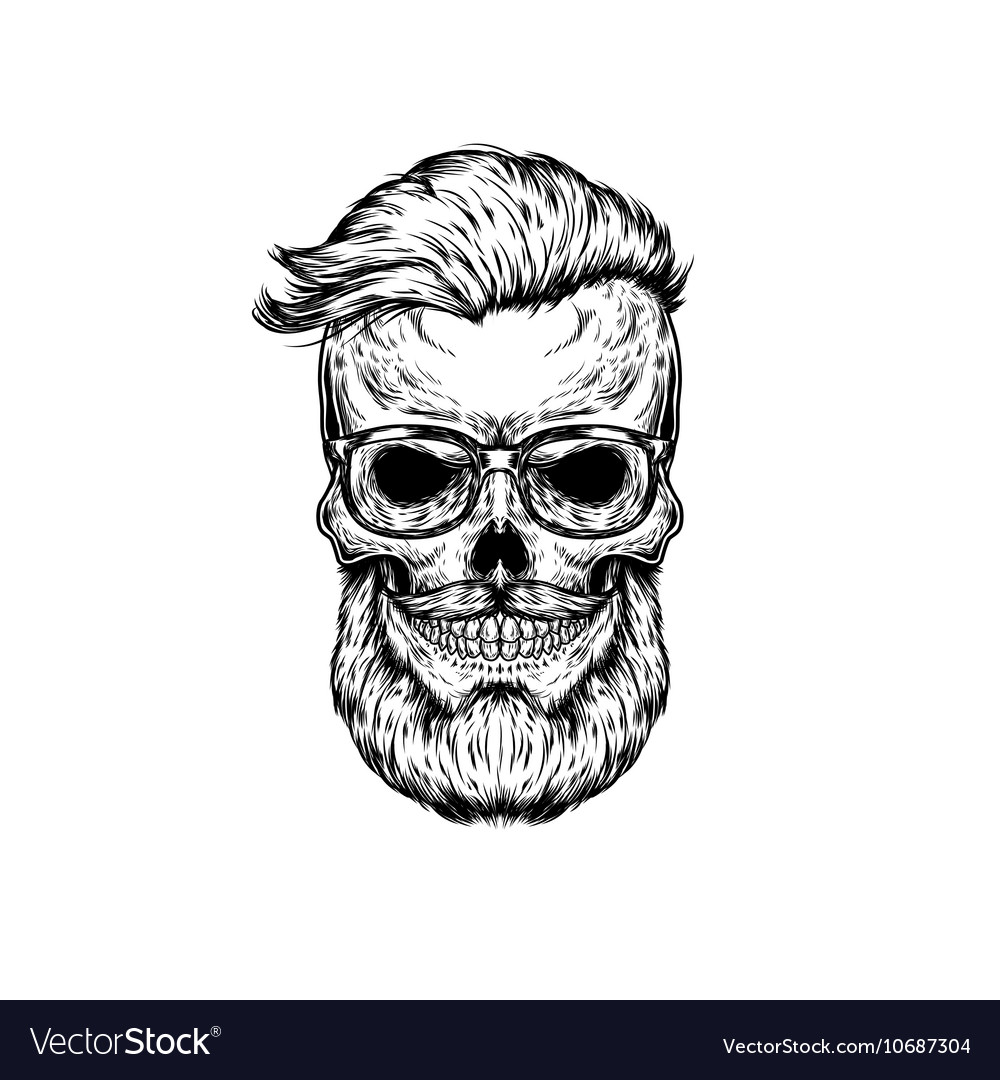 Human skull in sunglasses