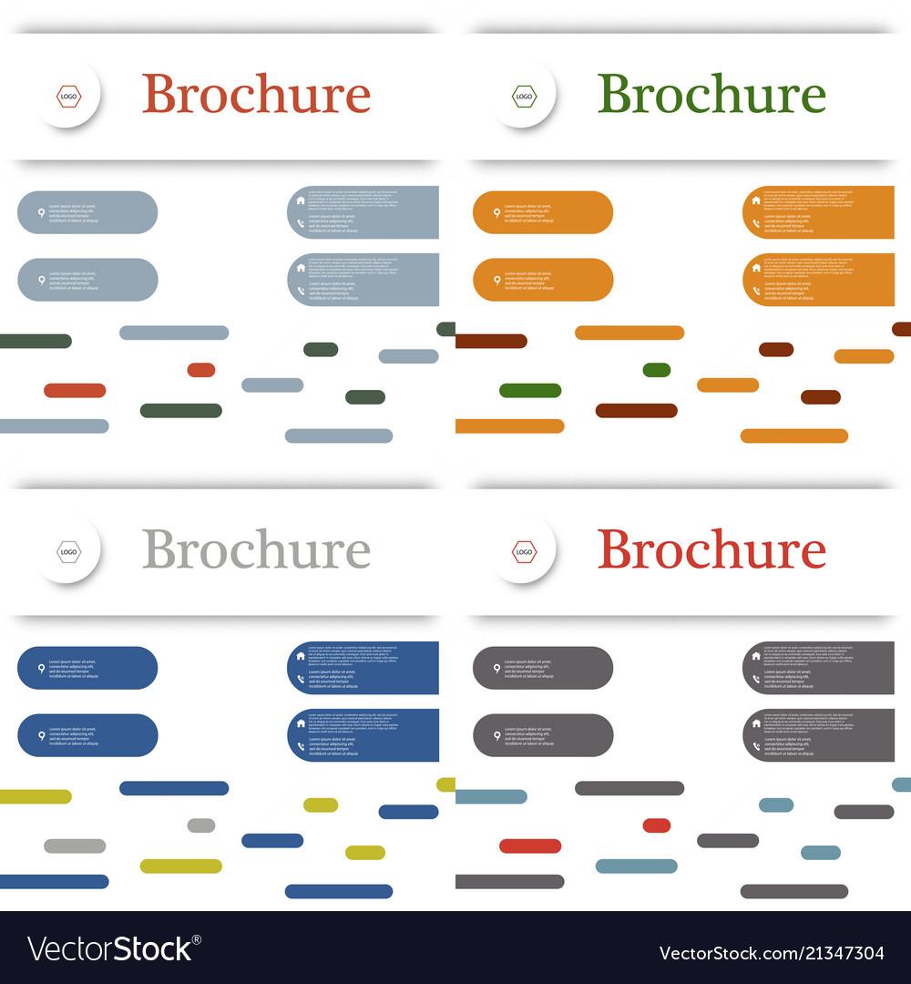 Set of business brochure flyer design layout