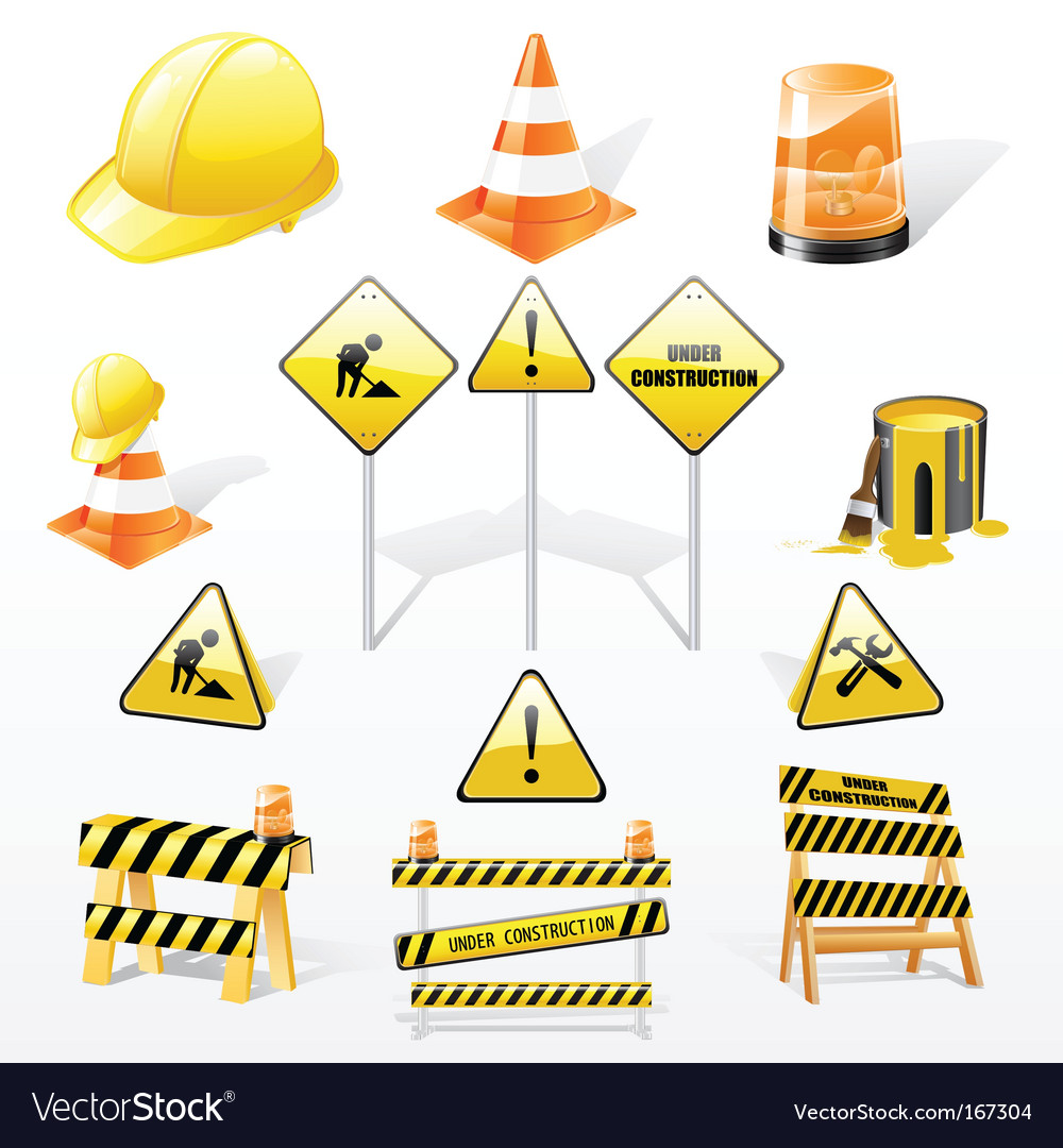 Under construction icons set