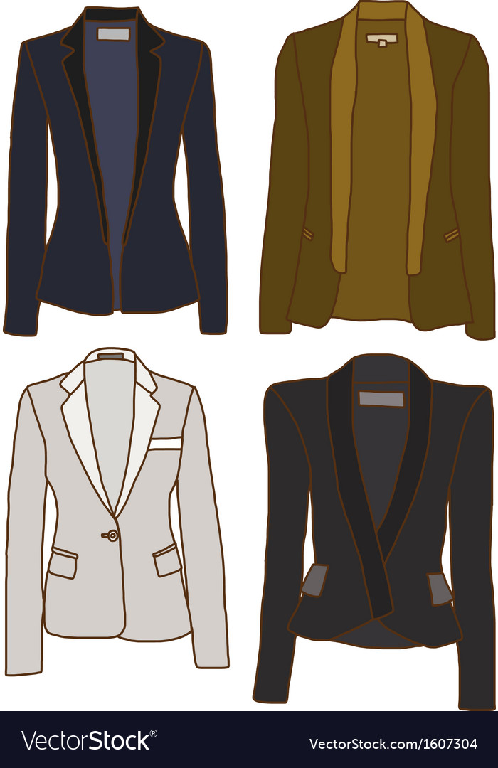 Women jackets vector image