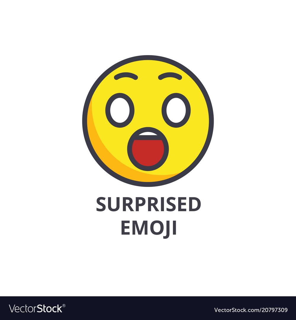 Amusing emoji line icon sign