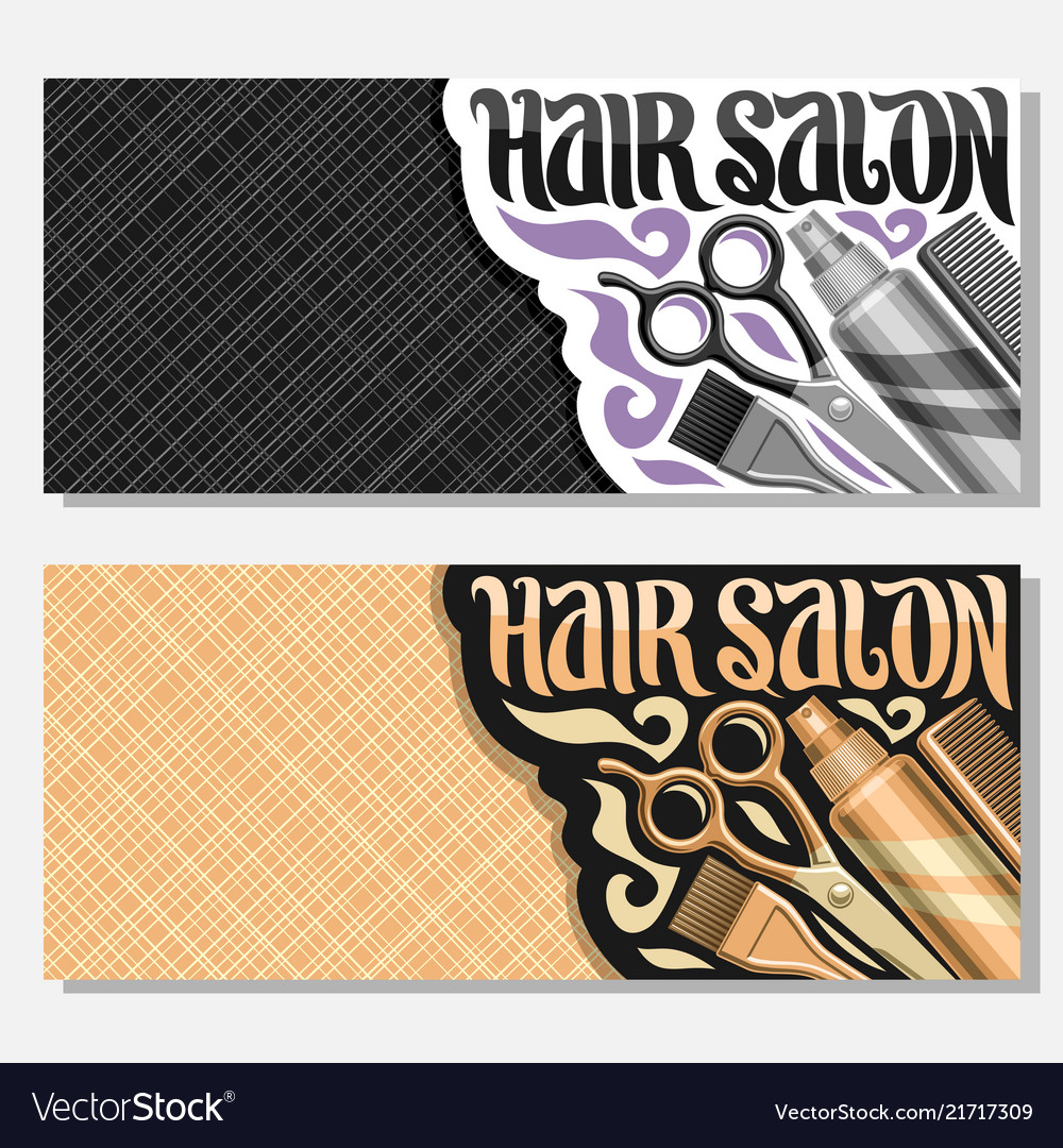 Banners For Hair Salon Royalty Free Vector Image