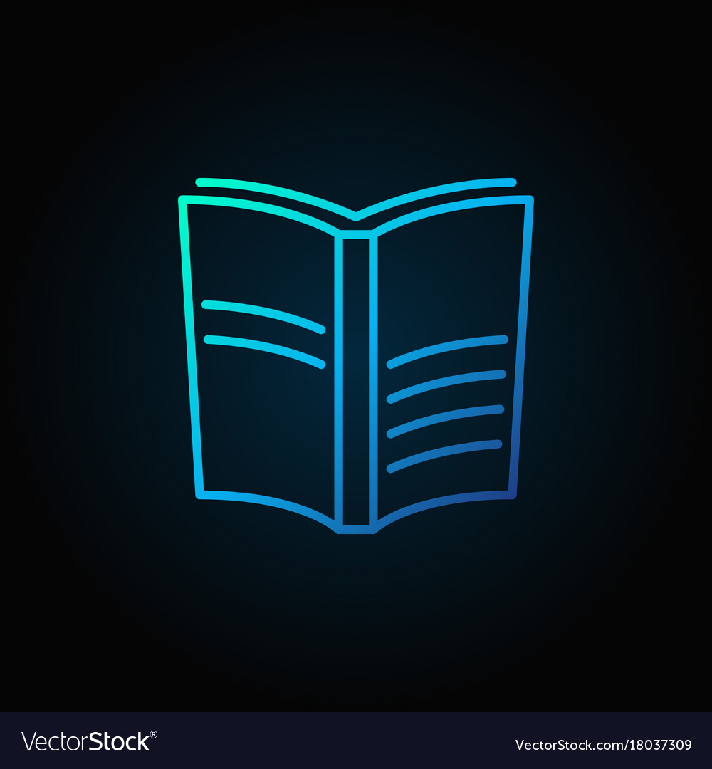 Book blue icon vector image