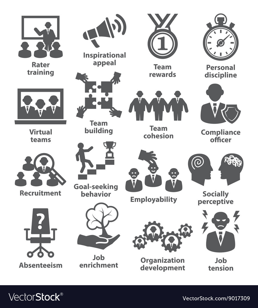 Business management icons Pack 21