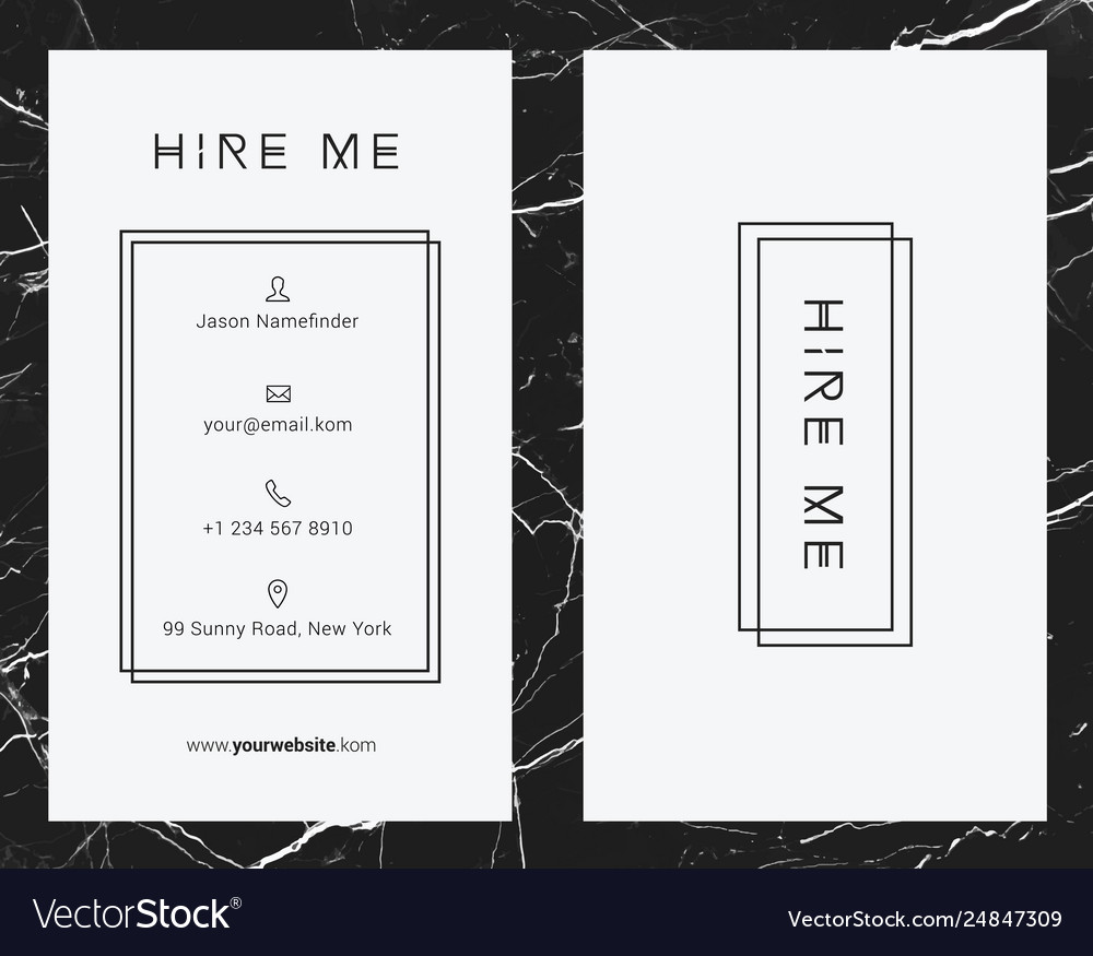 Corporate white business card template