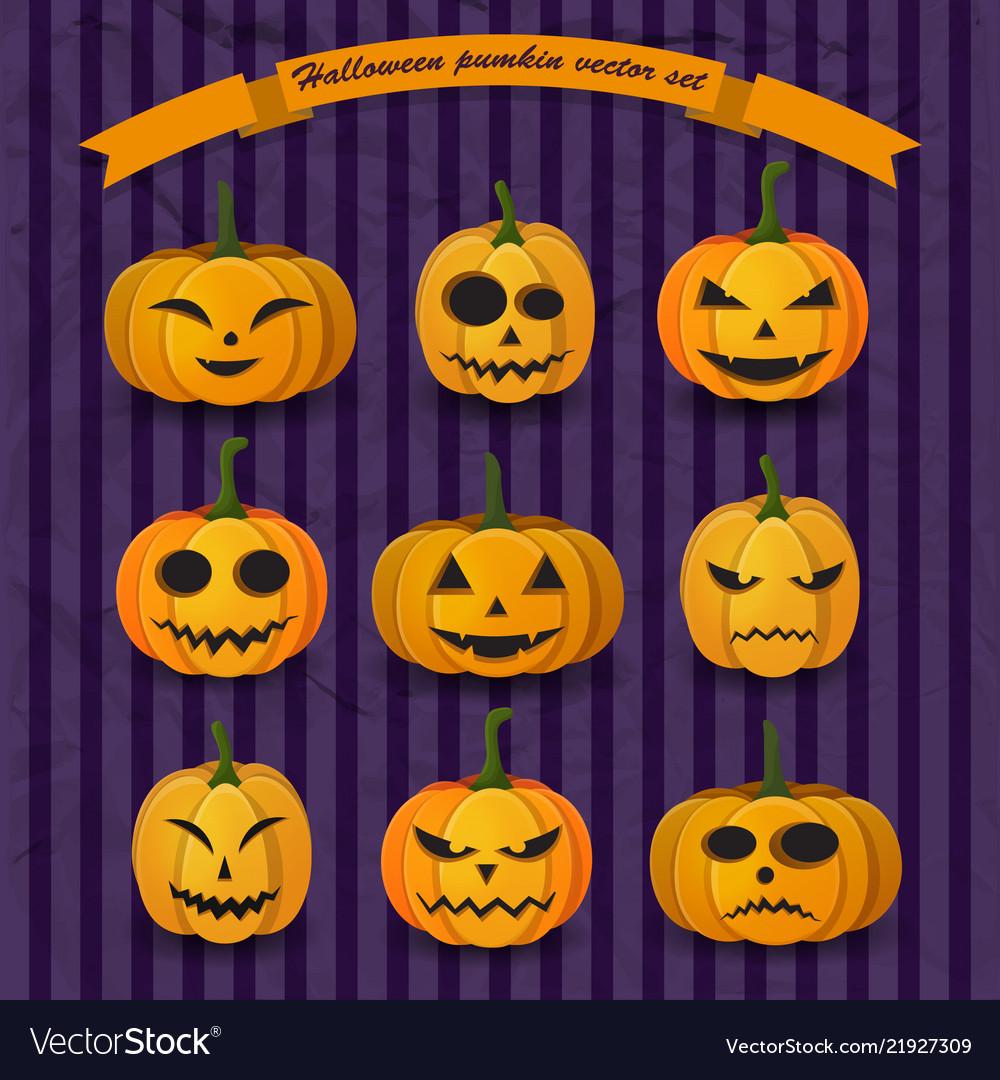 Festive halloween pumpkins collection