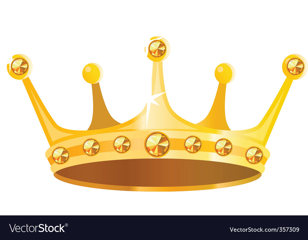 gold crown royalty free vector image vectorstock rh vectorstock com crown vector art crown vector graphic