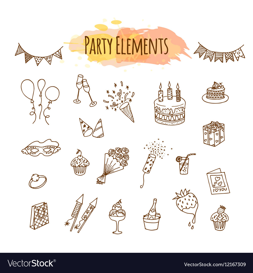 Hand-drawn Beers Happy Birthday Personalized Banner Party Decoration