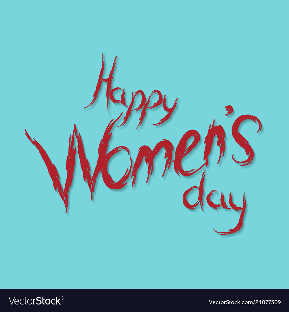 Happy womens day calligraphy background