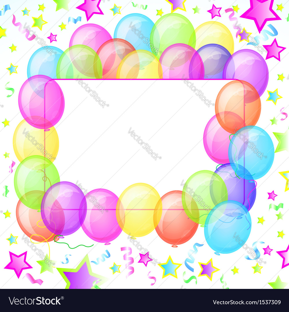 Party Balloons Banner vector image