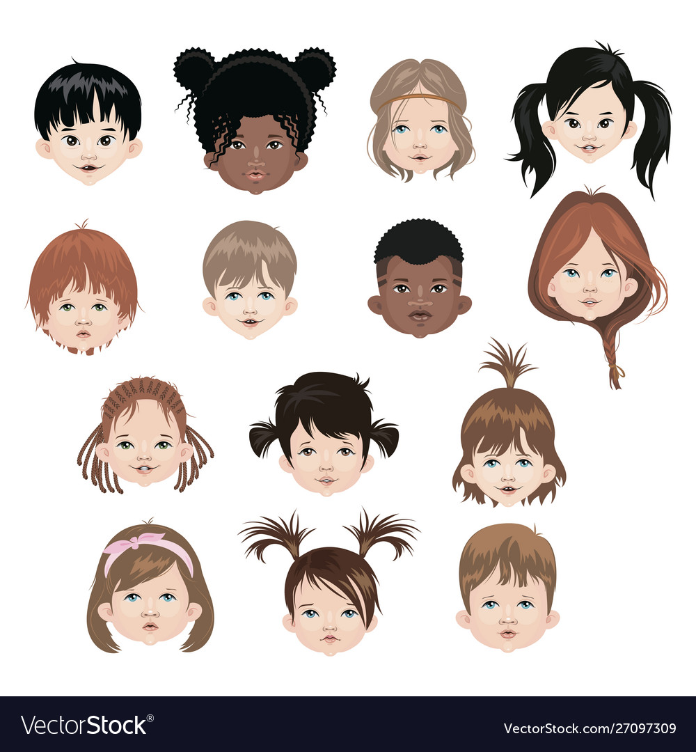 Set children different nationalities