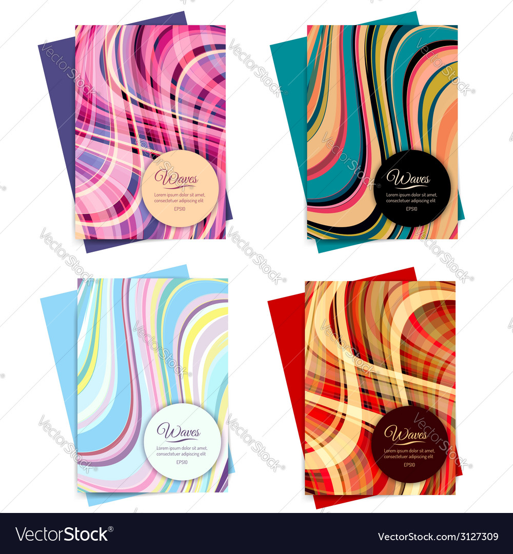 Set of Brochure Template Design vector image