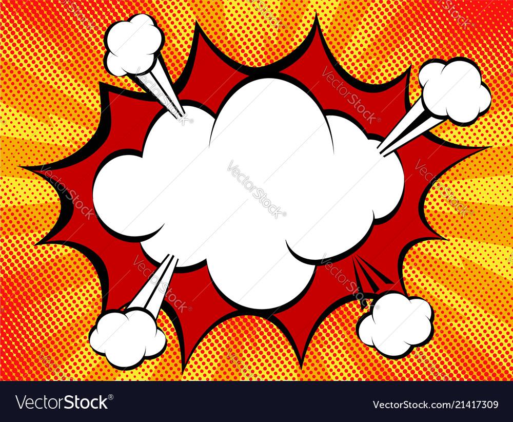 Speech explosion bubble collision pop-art style
