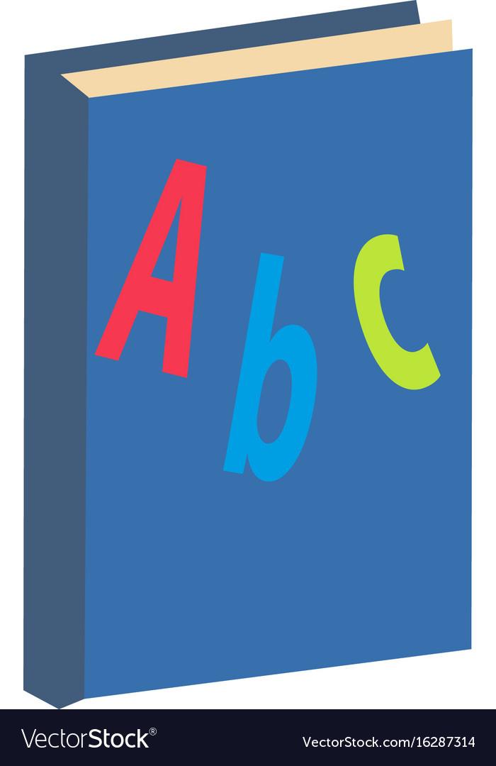Abc book icon flat cartoon style isolated on