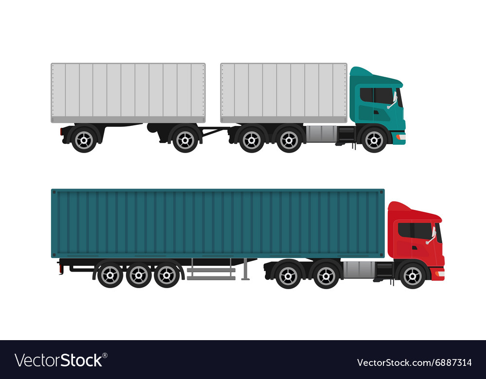 Delivery shipping cargo trucks and semi-trucks