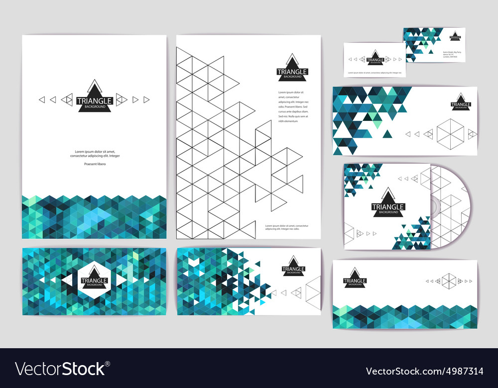 Document template with triangle background