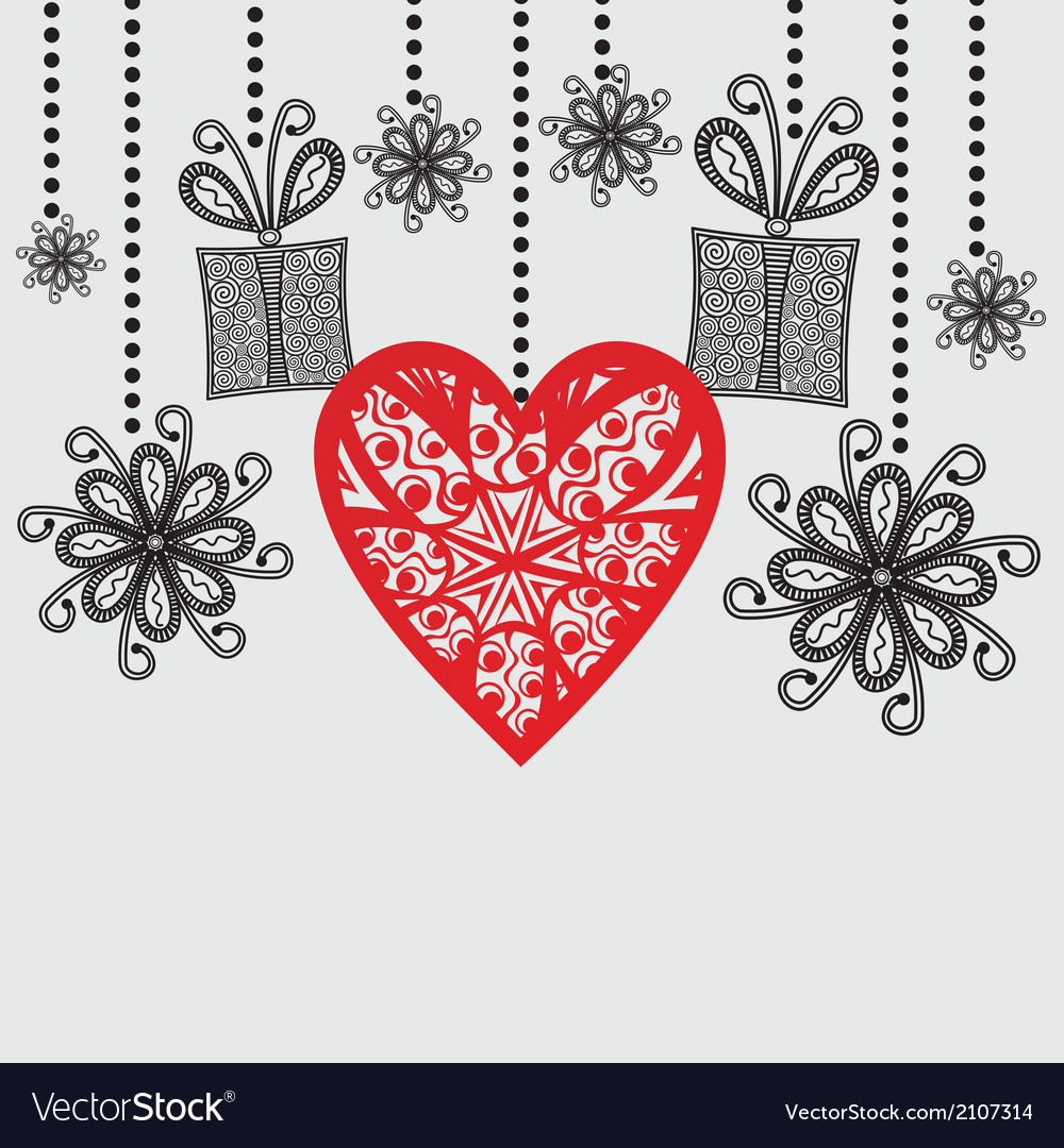 Romantic pattern background hearts vector image
