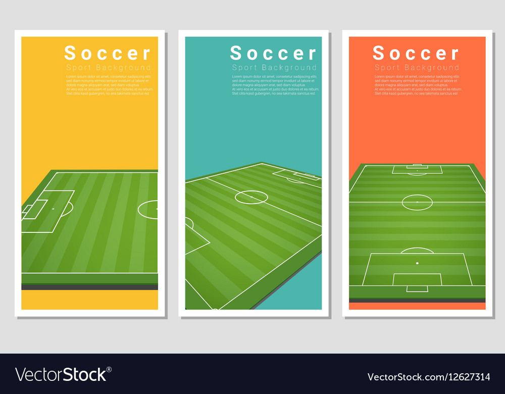 Set of Football field graphic background 3