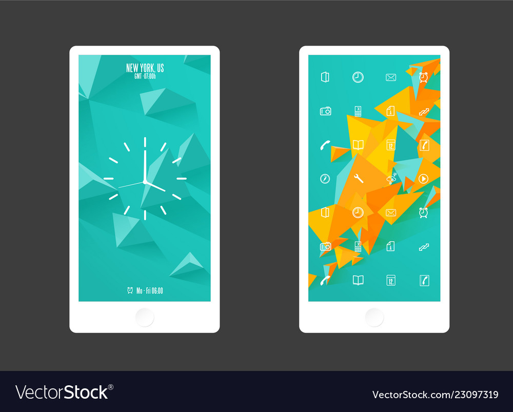 Abstract colored background with triangles and