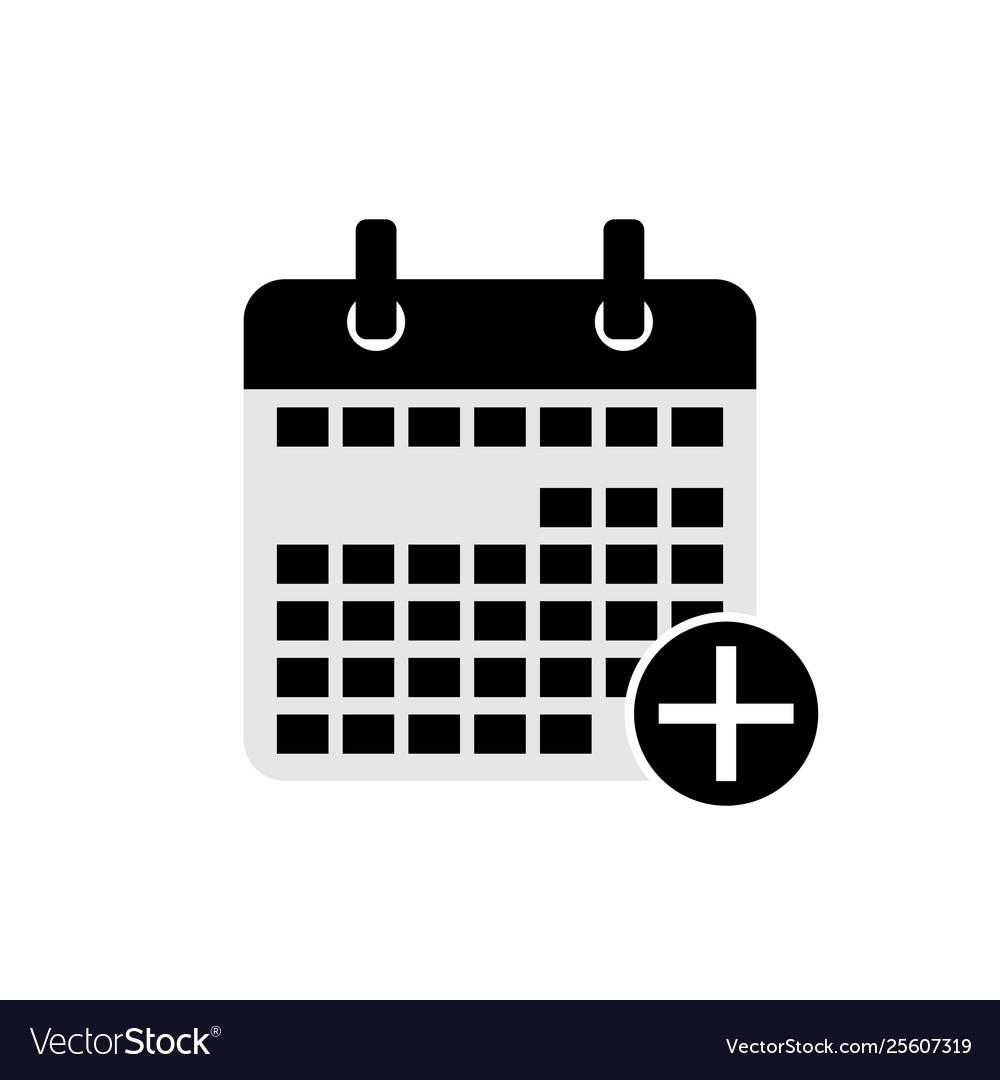Add calendar date icon symbol