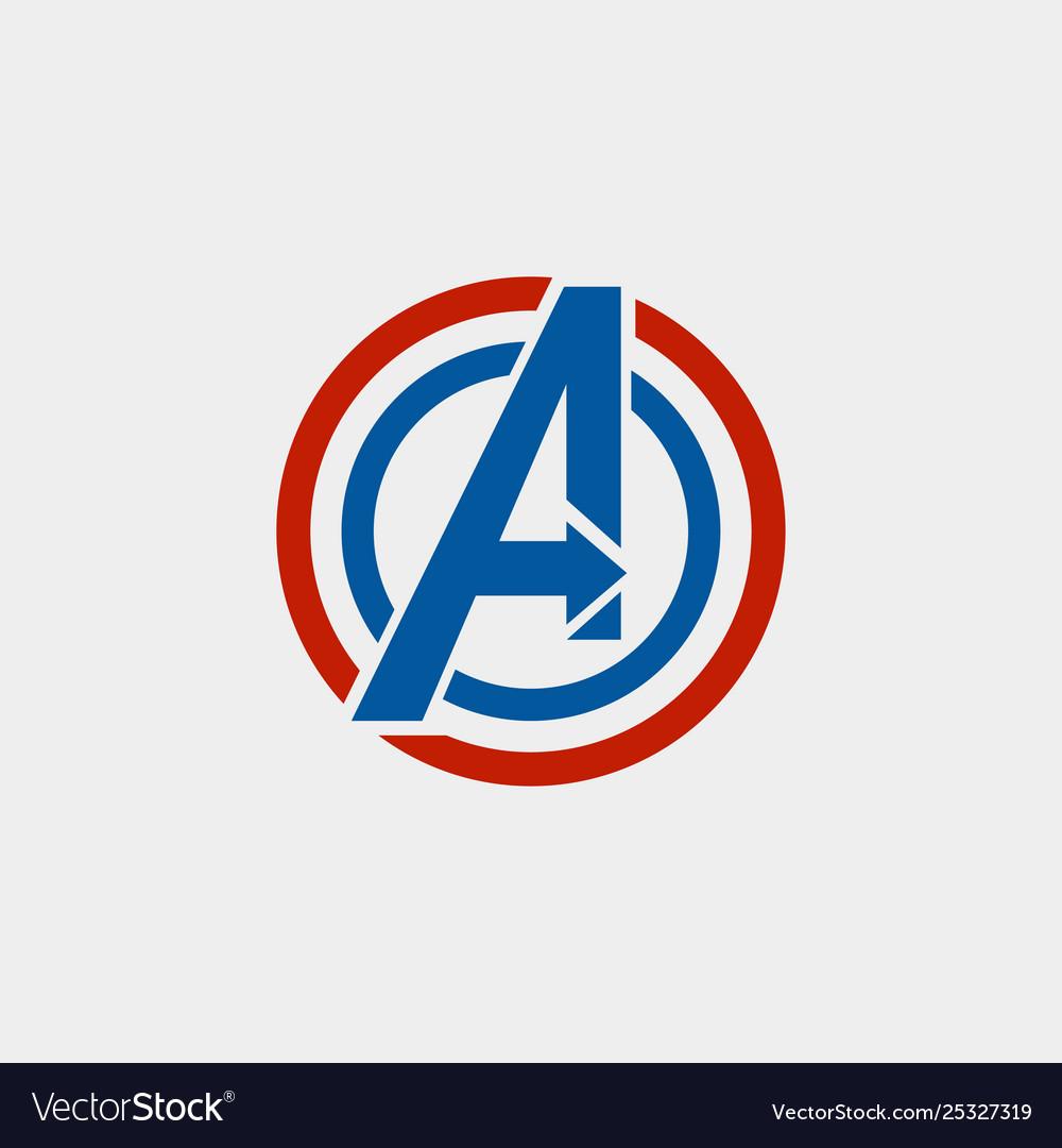 avengers logo isolated icon symbol avengers vector image vectorstock