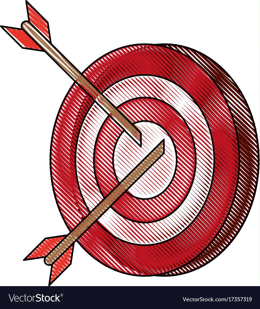 darts on bullseye icon image royalty free vector image