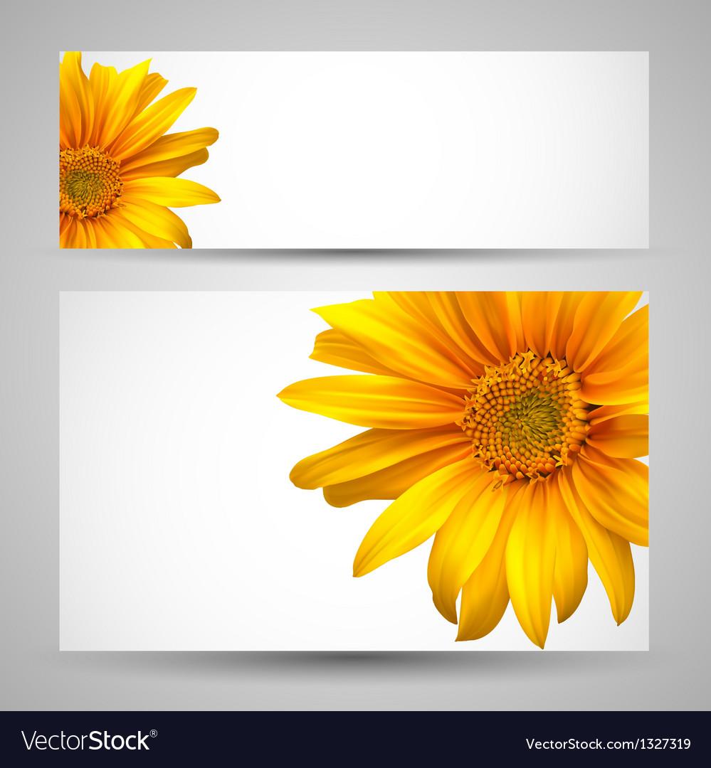 Flower background templates