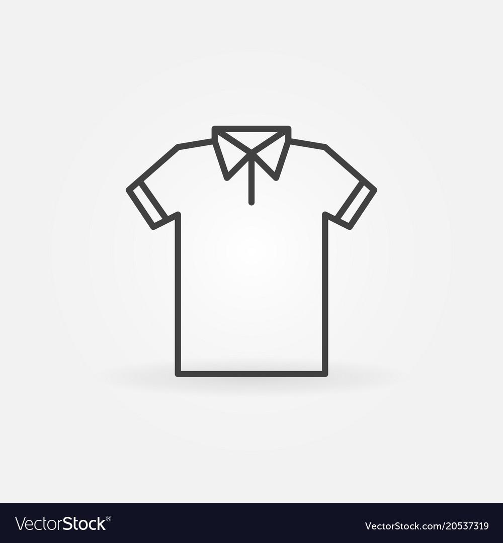 modern t shirt line icon tshirt symbol royalty free vector vectorstock