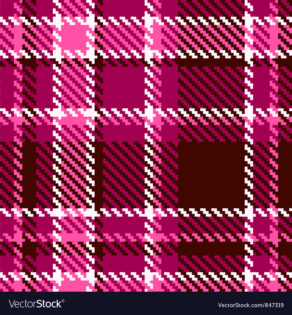 Seamless Red and Pink Checkered Fabric Pattern