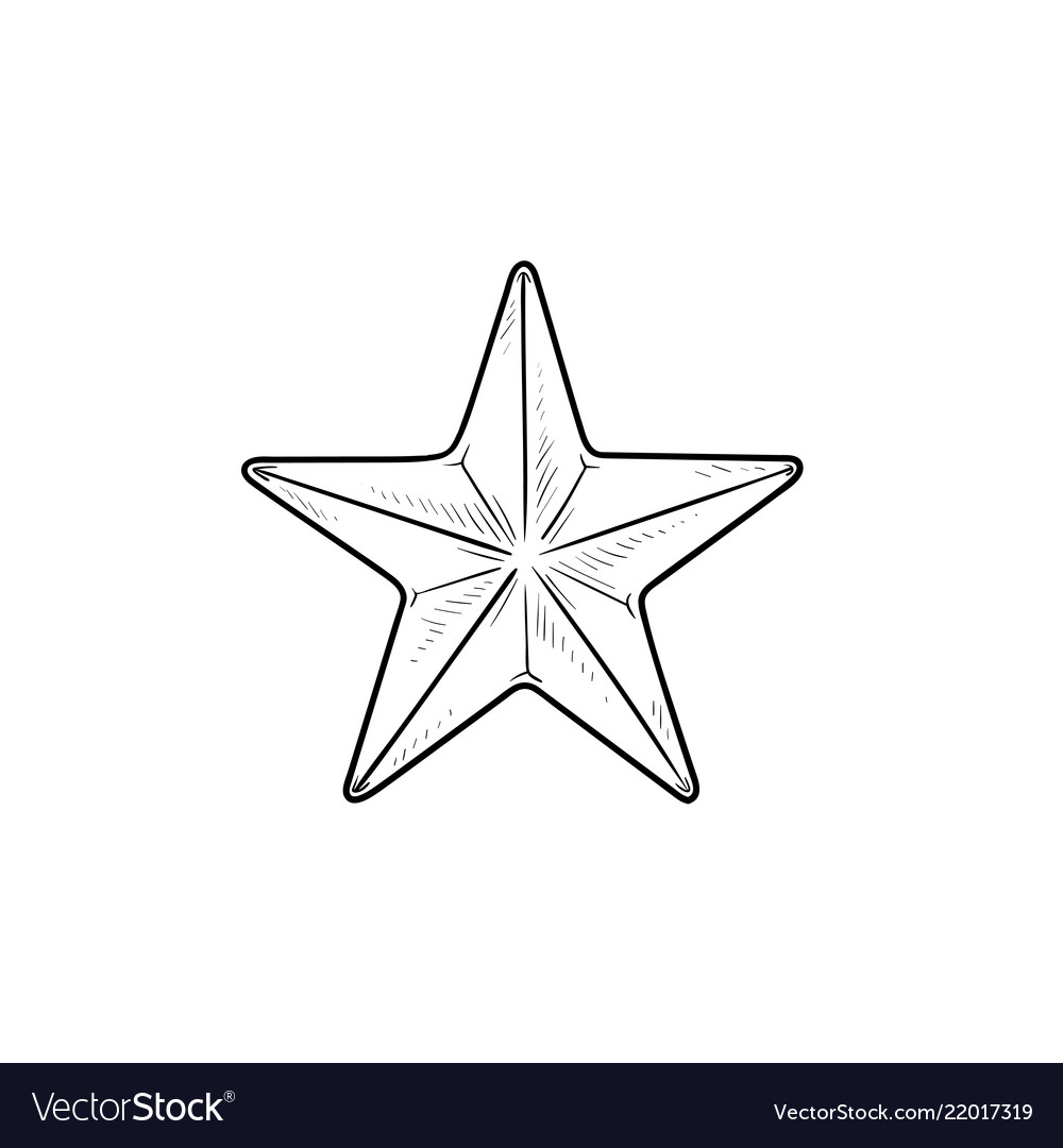 Star hand drawn outline doodle icon