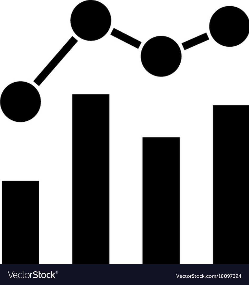 Chart bar graph business icon