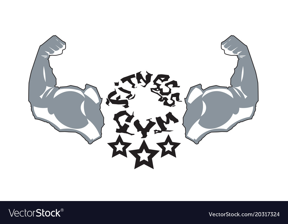 Fitness gym logo modern sport center icon vector image